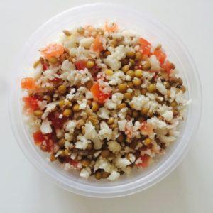 Cauliflower Rice and Lentil salad
