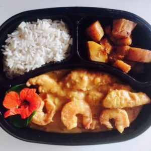 Creole Chick Prawn curry