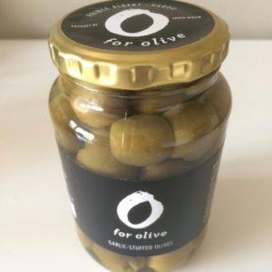 Green olives garlic